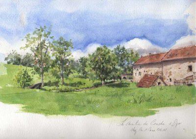 Le moulin de Conche - 32 x 24 cm - aquarelle - © Marie-Pierre Lavallard