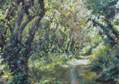 Le vallon de Belle-Ile 9 - 56 x 43 cm - aquarelle - © Marie-Pierre Lavallard