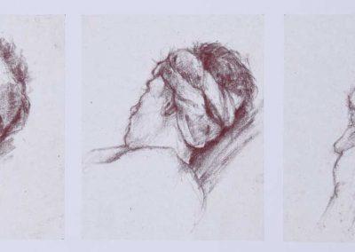 Portraits au turban - 42,5 x 17 cm - carré Comté - © Marie-Pierre Lavallard